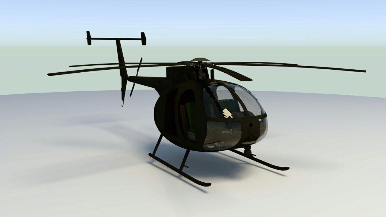 MH-6 Little Bird lowpoly