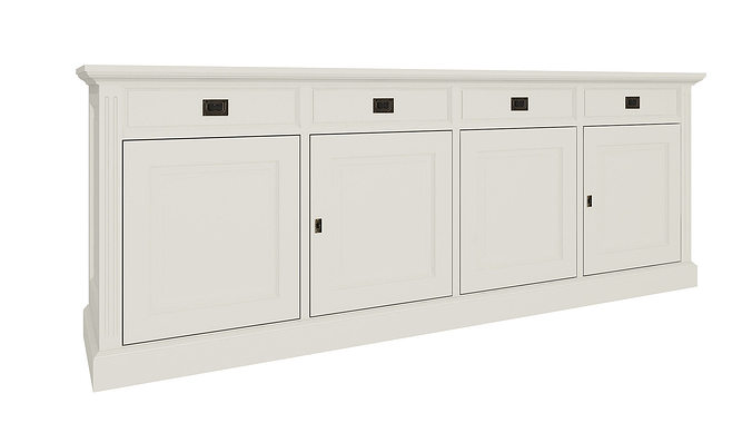 White cabinets 70 3d model max for Model kitchens with white cabinets
