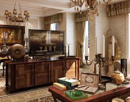 3d living room interior design with furniture 18