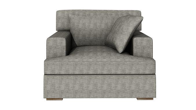 Genial One Person Sofa 252 3D Model