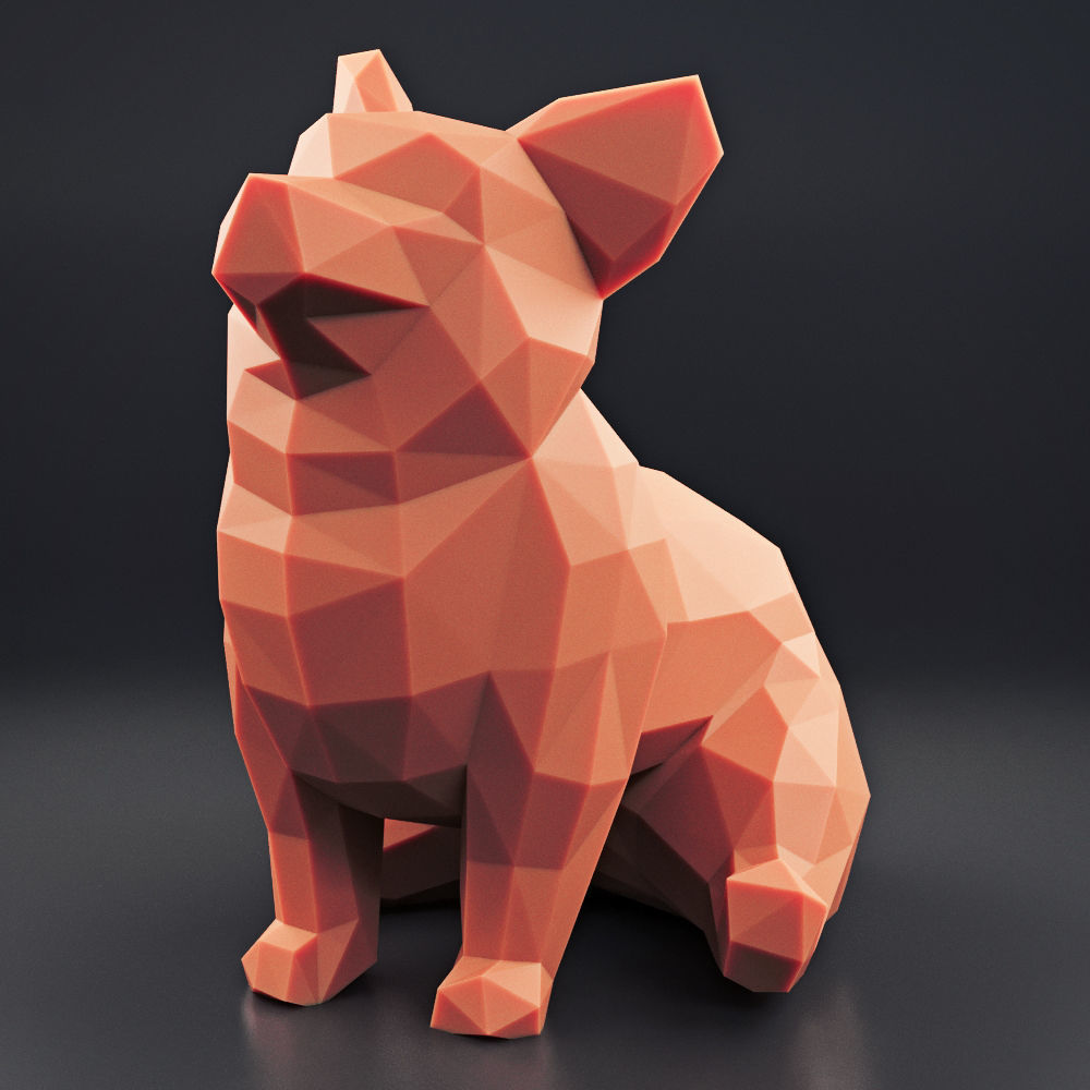 Welsh Corgi Low Poly 2