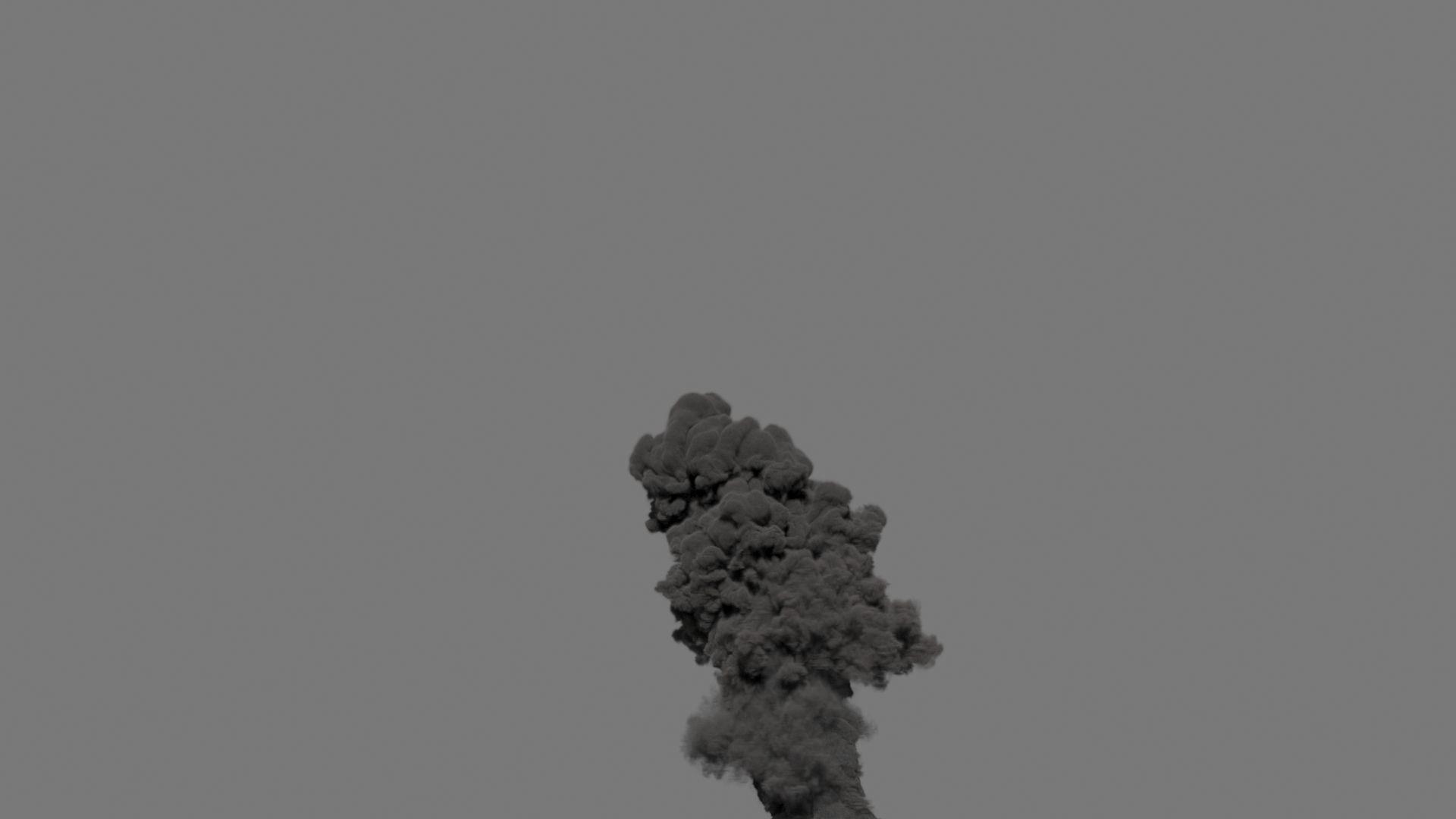 Smoke Plume 01 - VDB - LargeScale