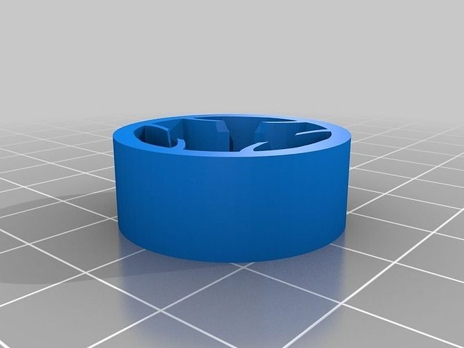 Aa To C Battery Adapter 3d Model Stl 1