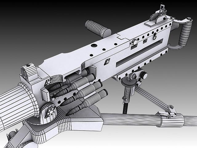 browning m2 3d model max obj 3ds stl wrl wrz 6
