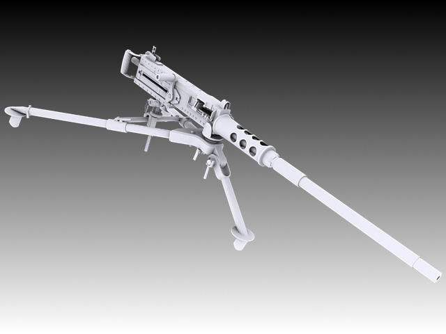 browning m2 3d model max obj 3ds stl wrl wrz 4