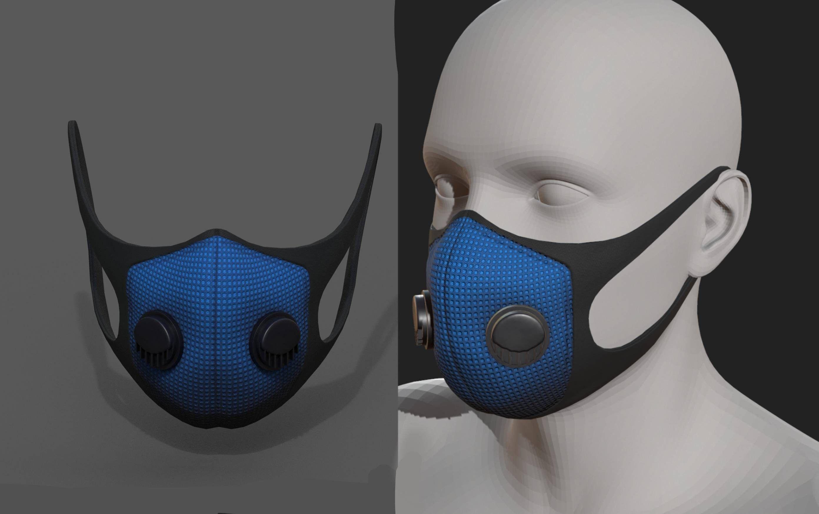 Gas mask protection futuristic fantasy  isolated