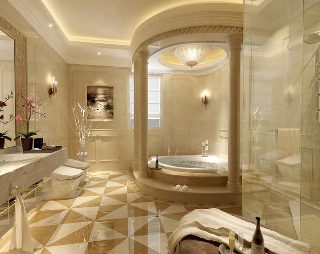 12 Luxurious Bathroom Design Ideas: Luxury Bathroom 3D Model Sink