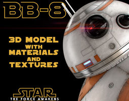 BB-8 Star Wars Droid 3D Model with Materials and Textures 3D Model