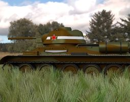 T34 76 Tank Camo HDRI 3D model