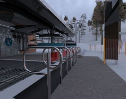 3D asset game-ready ski center