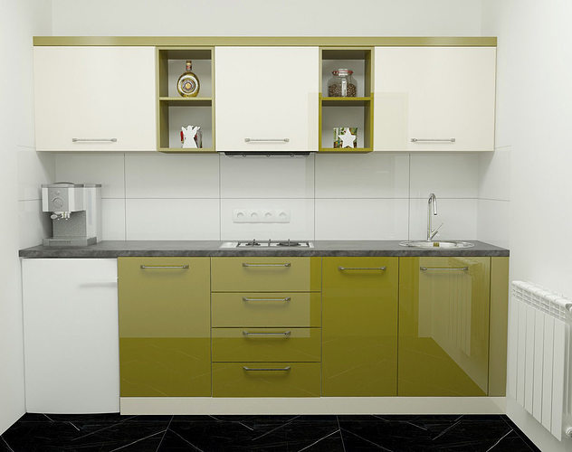 Modern Green Kitchen Model Max 1