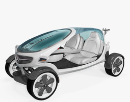 3d mercedes benz golf car