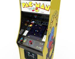 pacman arcade cabinet 3d asset realtime