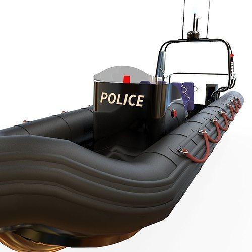 zodiac police boat 3d model fbx ma mb 1