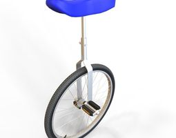 VR / AR ready 3d model unicycle
