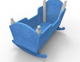 3D asset realtime baby cradle