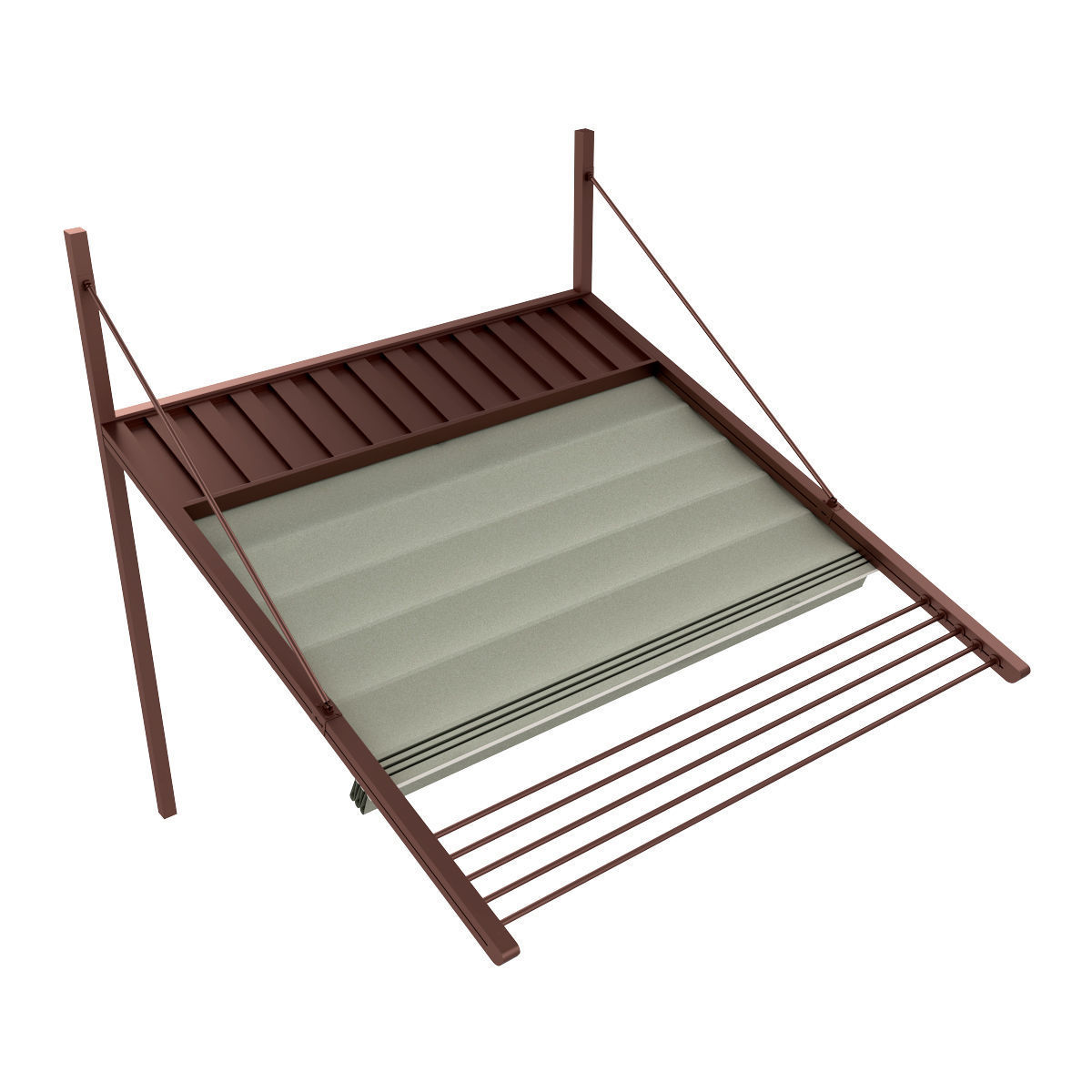 Motorized Pergola 3 bronze patina rust