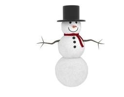 3d winter snowman