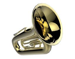 VR / AR ready 3d model brass tuba