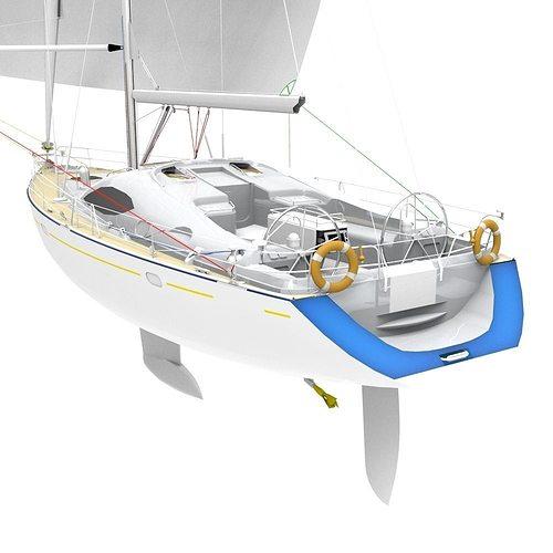 sailing yacht 3d model obj fbx ma mb stl mtl 1