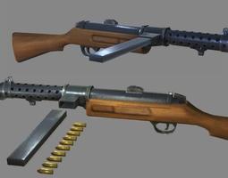 3D model Sub Machine Gun - Mk1 Lanchester