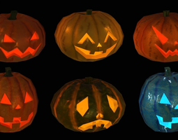 Breakable Spooky Pumpkins 3D asset