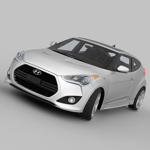 Used Hyundai Veloster Turbo Automatic: 3D Model Hyundai Veloster Turbo 2013