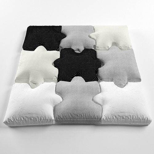Pillow puzzle 3d model cgtrader for Architectural decoration crossword clue