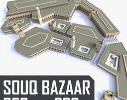 souq bazaar market game-ready 3d asset