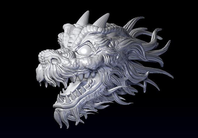 3d printable model dragon head jewel cgtrader