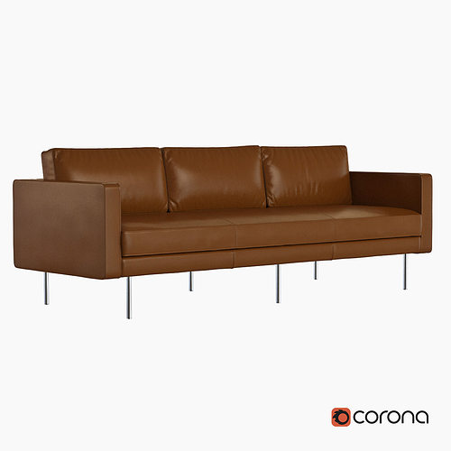 West Elm Axel Leather Sofa 3d Model Cgtrader