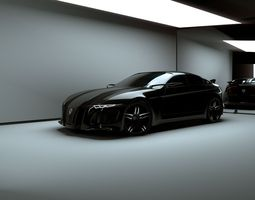 3D asset Affekta Deamon Concept Sport Car auto