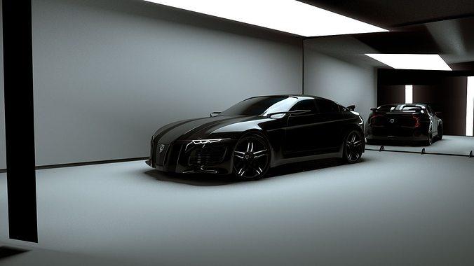 affekta deamon concept sport car 3d model obj mtl 3ds fbx stl blend dae 1