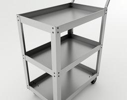 metal cart 3d model max obj 3ds wrl wrz