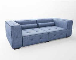 3d denim couch