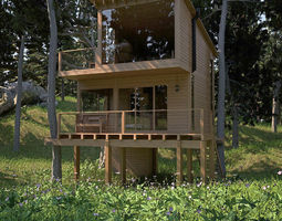 3D model The Eco House
