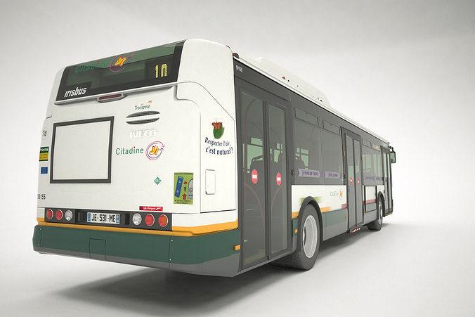 irisbus citelis 12 gnv 3d model max obj mtl 3ds fbx tga 1