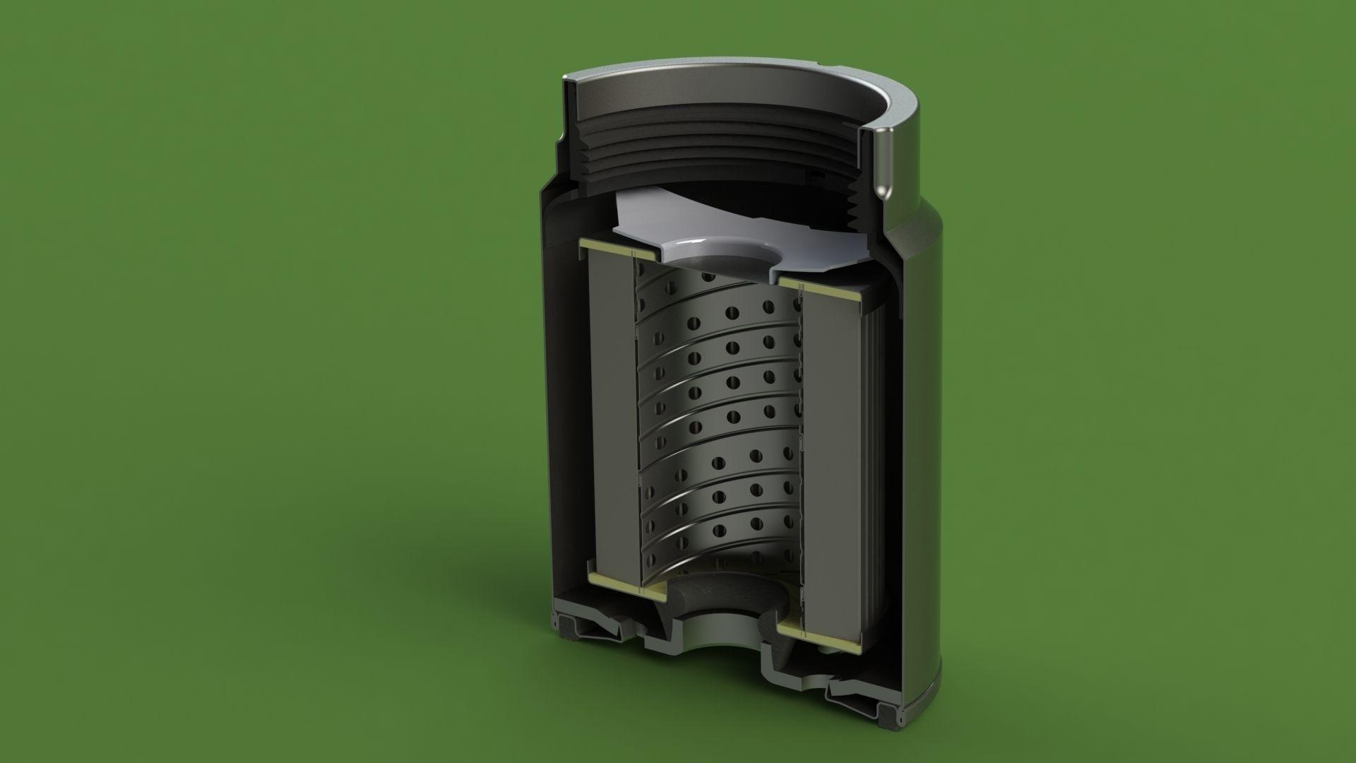mann pl270 disel fuel filter 3d model sldprt sldasm slddrw 1 ...