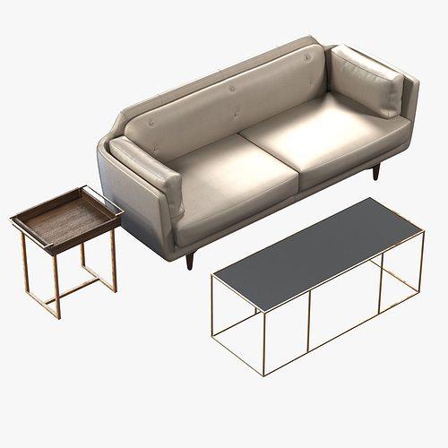 coco sofa utah sage by buttercup 3d model max obj mtl 3ds fbx 1