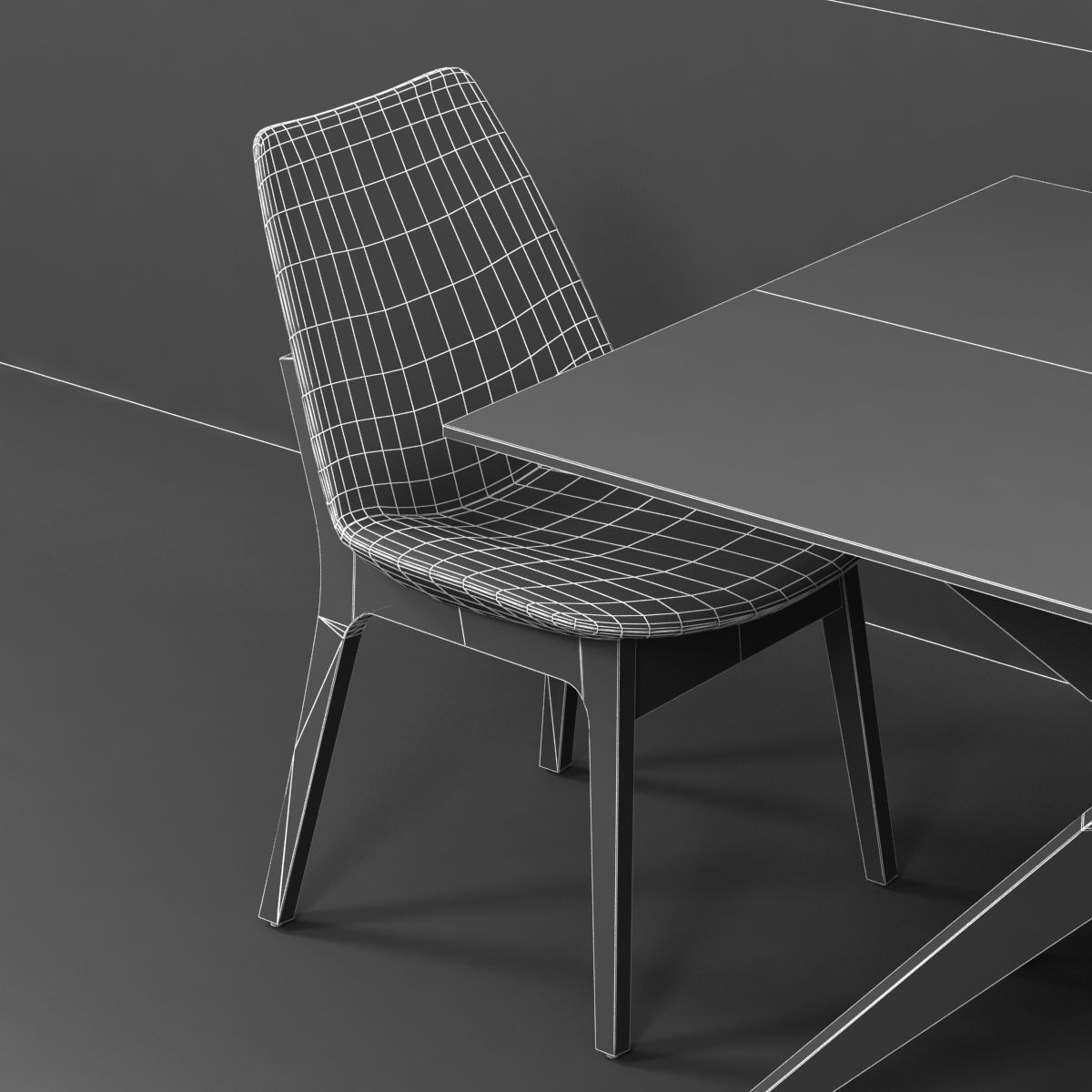Charmant ... Magna Glass Dining Table By Inmod Sohoconcept Eiffel Wood Chair 3d  Model Max Obj 3ds Fbx ...