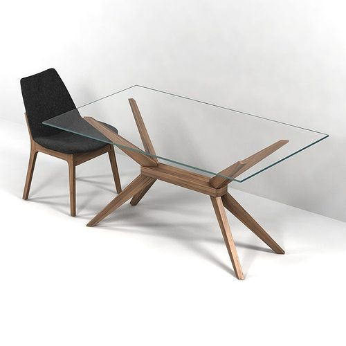 Magna glass dining table by inmod sohoconcept eiffel wood for In mod furniture
