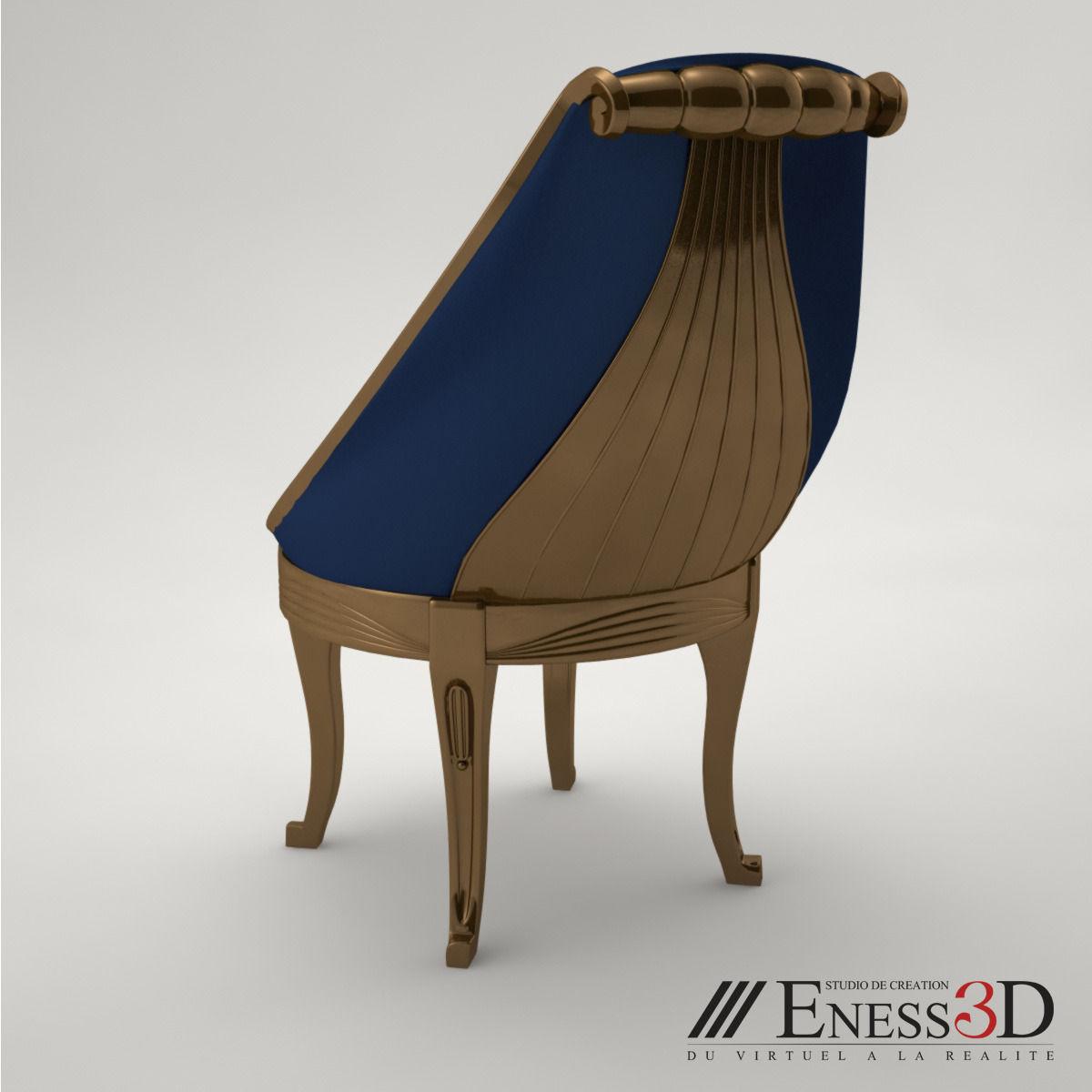... Pro   Art Deco Chair 3d Model Max Obj Fbx Unitypackage 5