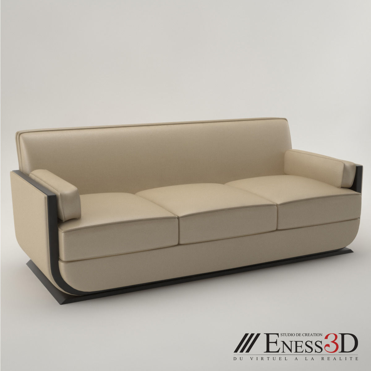 Pro Art Deco Sofa 1930 Model Max Obj Fbx Unitypackage 1