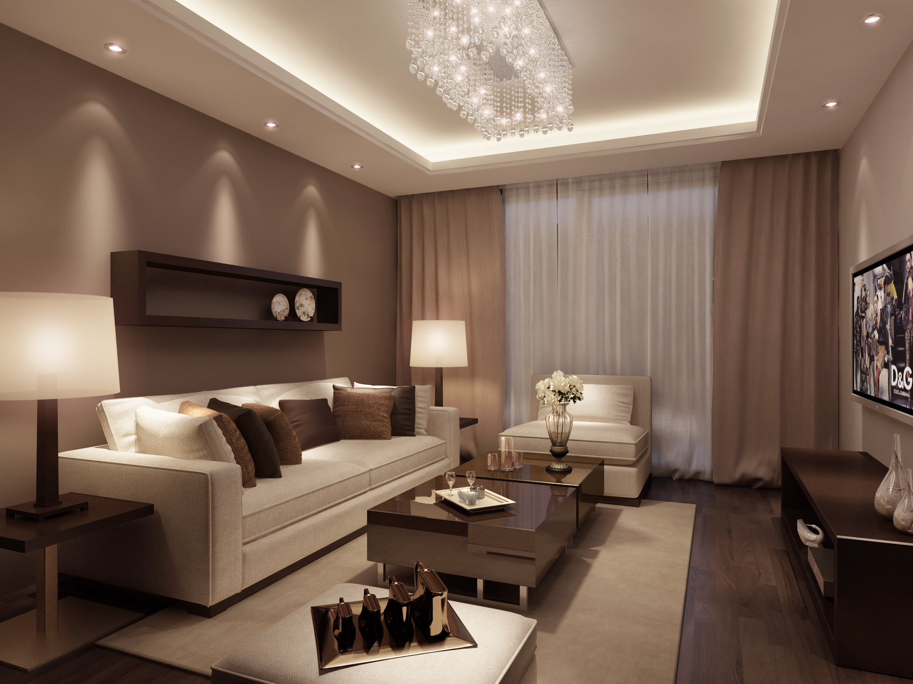 Living Room 3d Model 3d living room architectural | cgtrader
