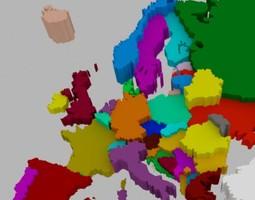 Europe 3D model