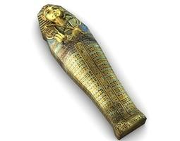 Low Poly Egyptian Sarcophagus 3D asset