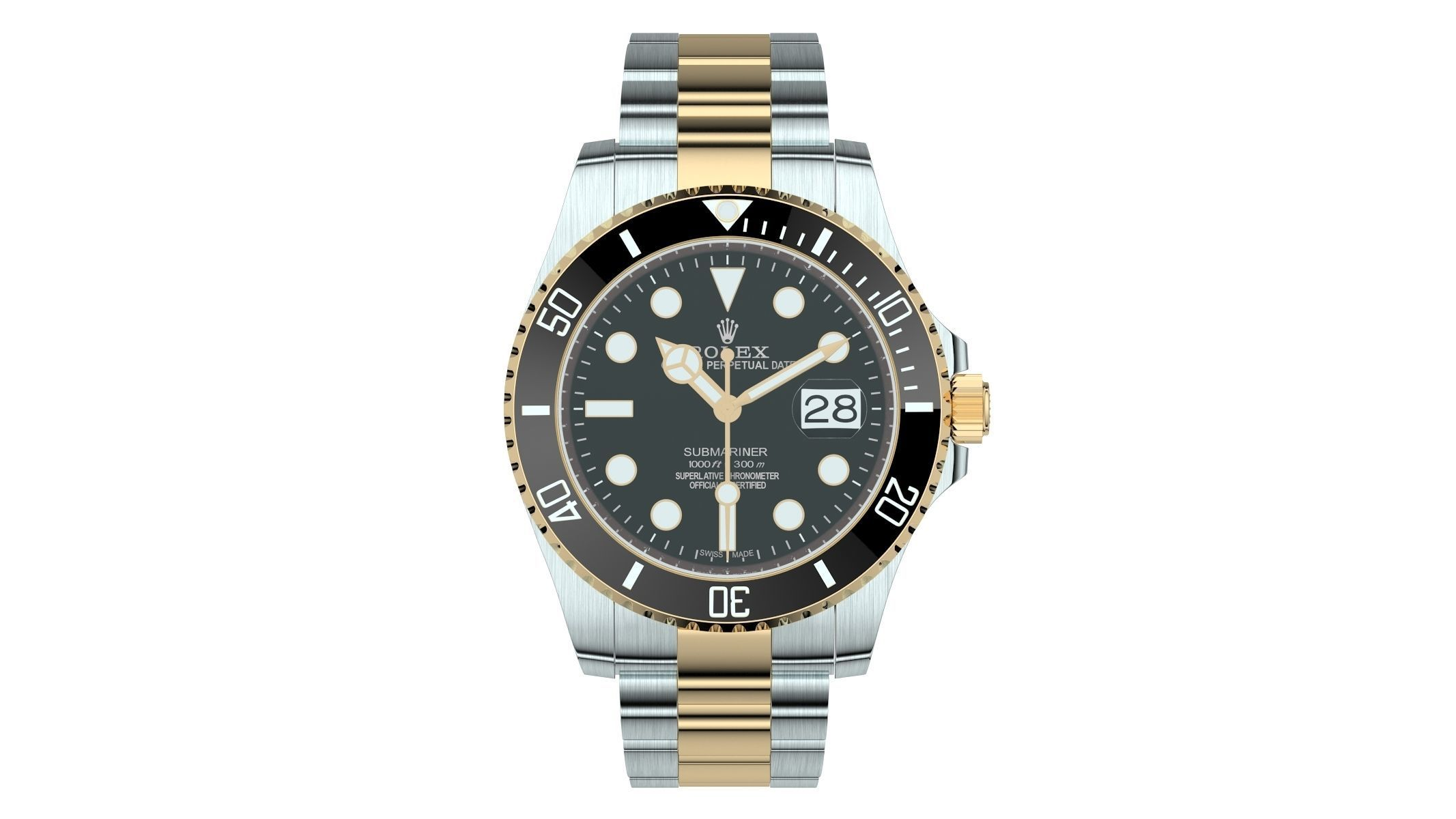 Rolex Submariner Date Oystersteel And Yellow Gold Black Plate