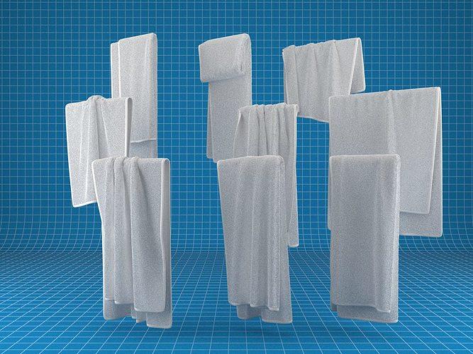 towel collection 3d model max obj mtl fbx 1