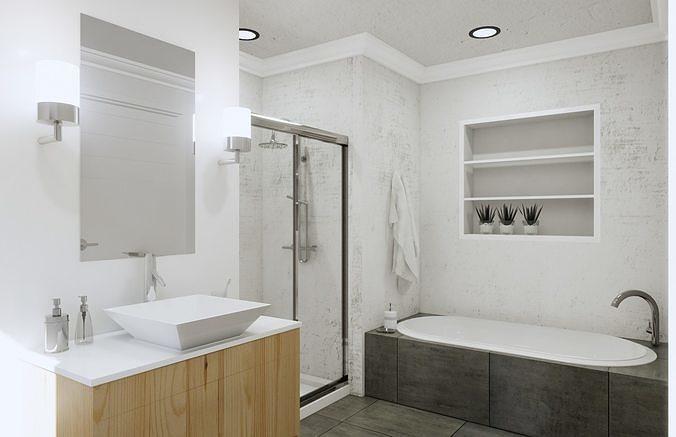 Bathroom Revit Model Scene