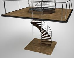 3D Spiral staircase handrail
